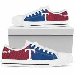 MLB Texas Rangers Low Top Shoes