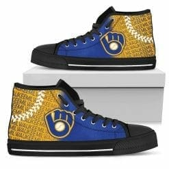 MLB Milwaukee Brewers Retro High Top Shoes