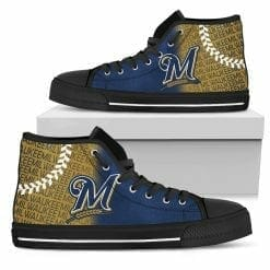 MLB Milwaukee Brewers High Top Shoes