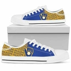 MLB Milwaukee Brewers Retro Low Top Shoes