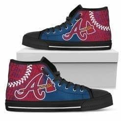 MLB Atlanta Braves High Top Shoes