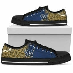 MLB Milwaukee Brewers Low Top Shoes