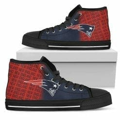 NFL New England Patriots High Top Shoes