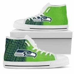NFL Seattle Seahawks High Top Shoes