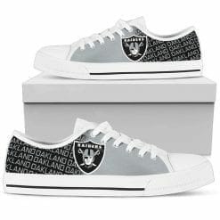 NFL Oakland Raiders Low Top Shoes
