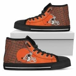 NFL Cleveland Browns High Top Shoes
