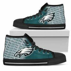 NFL Philadelphia Eagles High Top Shoes