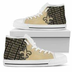 NFL New Orleans Saints High Top Shoes