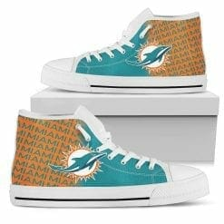 NFL Miami Dolphins High Top Shoes