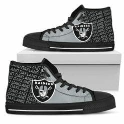 NFL Oakland Raiders High Top Shoes
