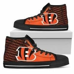 NFL Cincinnati Bengals High Top Shoes