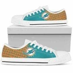 NFL Miami Dolphins Low Top Shoes
