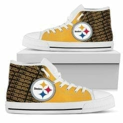 NFL Pittsburgh Steelers High Top Shoes