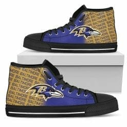 NFL Baltimore Ravens High Top Shoes