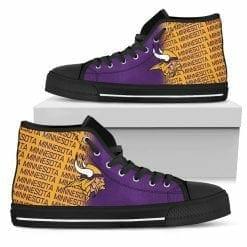NFL Minnesota Vikings High Top Shoes