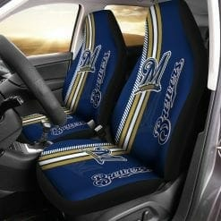 MLB Milwaukee Brewers Pair of Car Seat Covers