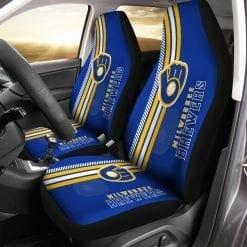 MLB Milwaukee Brewers Retro Pair of Car Seat Covers