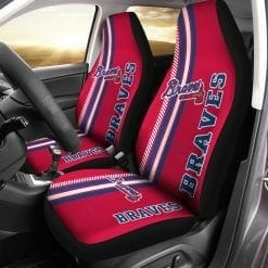MLB Atlanta Braves Pair of Car Seat Covers