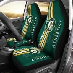 MLB Oakland Athletics Pair of Car Seat Covers