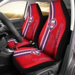MLB Philadelphia Phillies Pair of Car Seat Covers