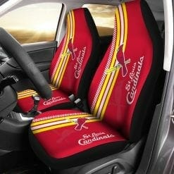 MLB St. Louis Cardinals Pair of Car Seat Covers