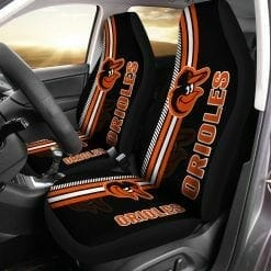 MLB Baltimore Orioles Pair of Car Seat Covers