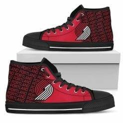 NBA Portland Trail Blazers High Top Shoes