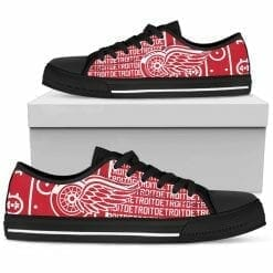 NHL Detroit Red Wings Low Top Shoes