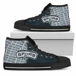 NBA San Antonio Spurs High Top Shoes