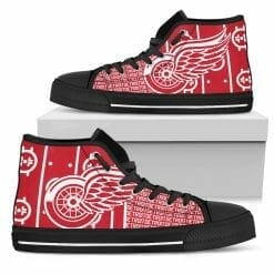 NHL Detroit Red Wings High Top Shoes