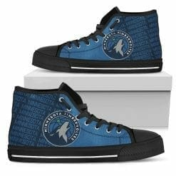 NBA Minnesota Timberwolves High Top Shoes