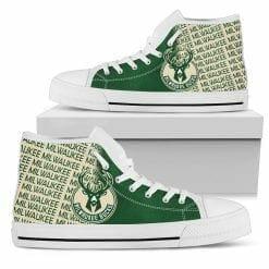 NBA Milwaukee Bucks High Top Shoes