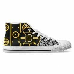 NHL Boston Bruins High Top Shoes