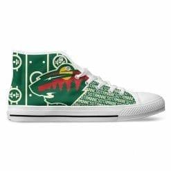 NHL Minnesota Wild High Top Shoes