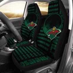 NHL Minnesota Wild Pair of Car Seat Covers