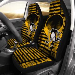 NHL Pittsburgh Penguins Pair of Car Seat Covers