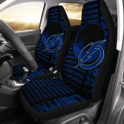 NHL Tampa Bay Lightning Pair of Car Seat Covers