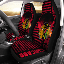 NHL Chicago Blackhawks Pair of Car Seat Covers