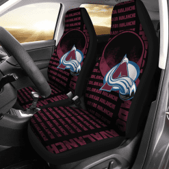 NHL Colorado Avalanche Pair of Car Seat Covers