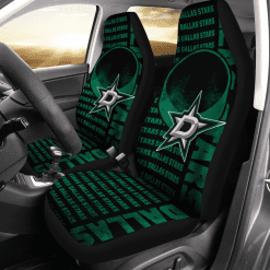 NHL Dallas Stars Pair of Car Seat Covers