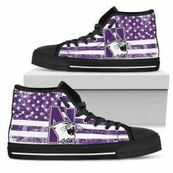 NCAA Northwestern Wildcats High Top Shoes