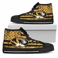 NCAA Missouri Tigers High Top Shoes
