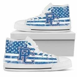 NCAA Presbyterian Blue Hose High Top Shoes