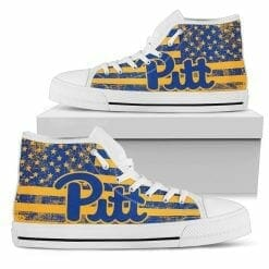 NCAA Pittsburgh Panthers High Top Shoes