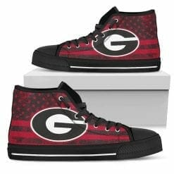 NCAA Georgia Bulldogs High Top Shoes