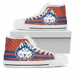 NCAA Houston Baptist Huskies High Top Shoes