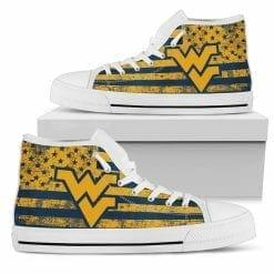 NCAA West Virginia Mountaineers High Top Shoes