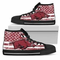 NCAA Arkansas Razorbacks High Top Shoes