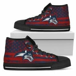 NCAA Stony Brook Seawolves High Top Shoes