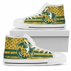 NCAA William & Mary Tribe High Top Shoes
